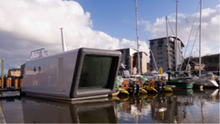 the H2O floating office