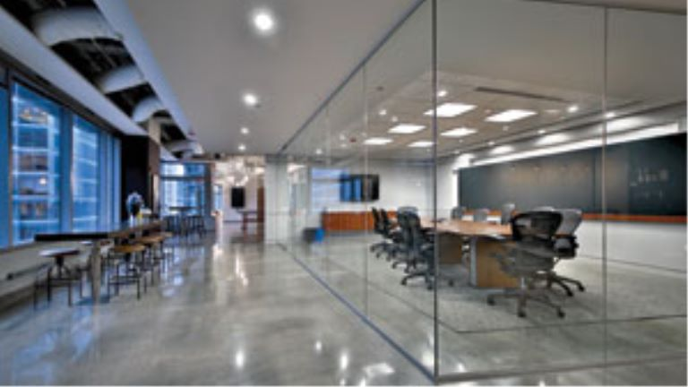 interior office space and conference room