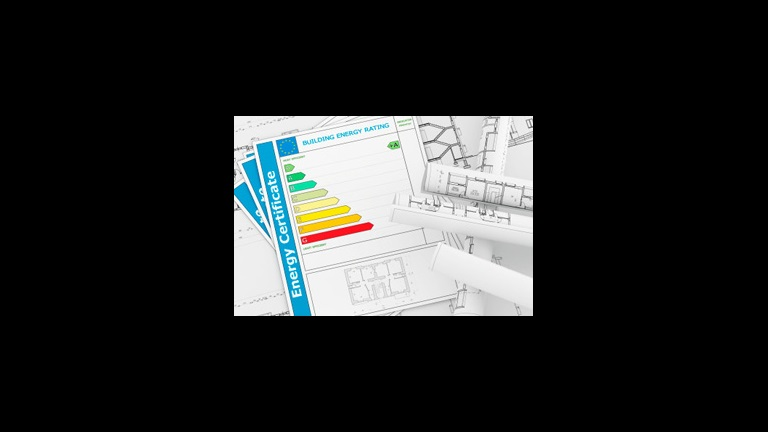 energy certificate and blueprints
