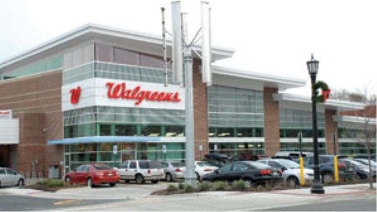 exterior view of Walgreens
