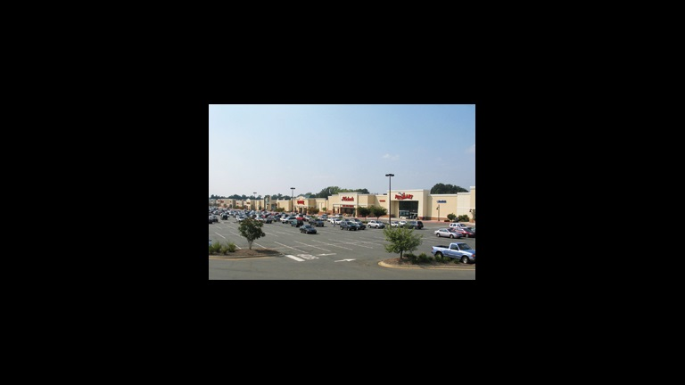 shopping center and parking lot