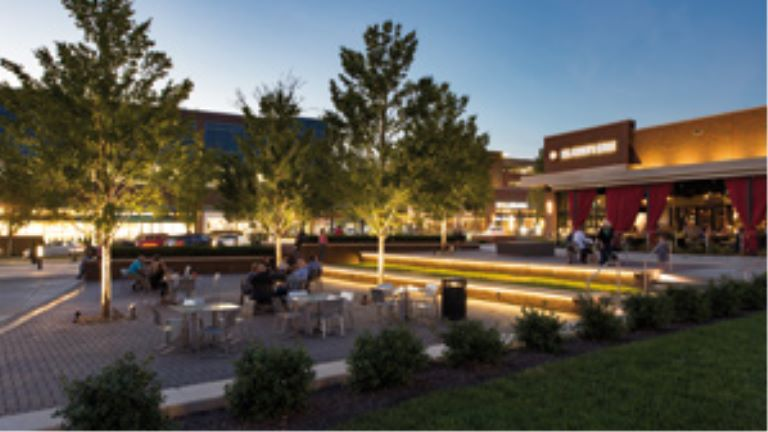 mixed-use retail open space