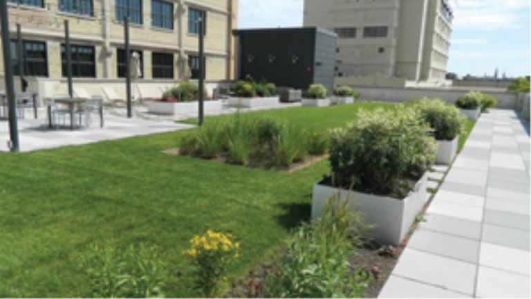 hybrid roof stormwater retention