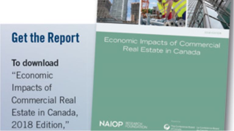 download economic impacts of commercial real estate in canada report box
