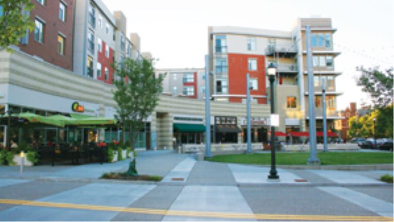 the piazza at the U Square mixed-use project