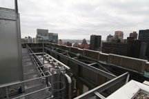 the roof of the TIAA-CREF building