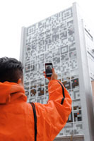 QR code as a building facade
