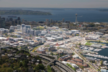 aerial view of South Lake Union district