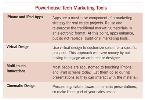 table listing tech marketing tools