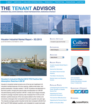 snapshot of Colliers' blog