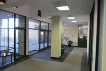 before photo of the lobby of the TenThreeTwenty office building