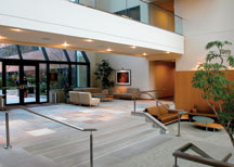 office building lobby