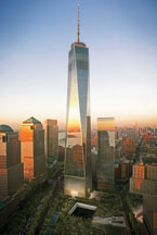 exterior view of the 1 World Trade Center building