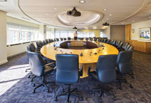 conference room with tables and chairs