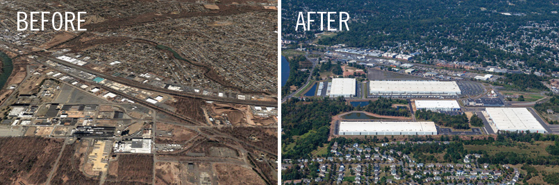 industrial site before after