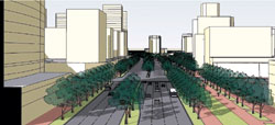rendering of street view