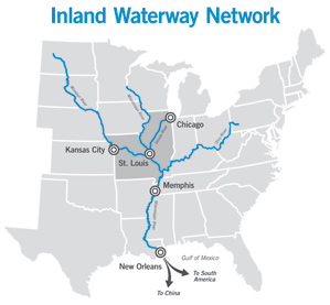 inland waterways map