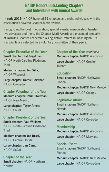 NAIOP outstanding chapters and individuals awards