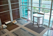 Lobby view of 555 Corporate Center