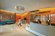 lobby of Phase V of the Amazon campus