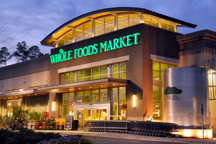exterior view of a Whole Foods grocery store