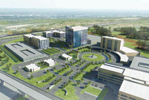 drawing of a new office park