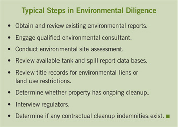 environmental diligence steps