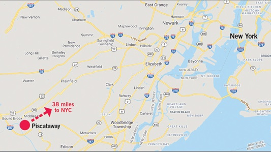 new jersey new york map