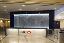 lobby of the HSBC North America building