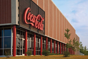exterior of the Coca-Cola building