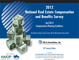 cover of the 2012 CEL and NAIOP Compensation Report