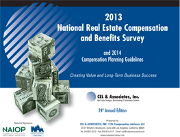 cover of the 2013 National Real Estate Compensation Survey